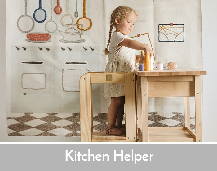 dziecko na kitchen helper
